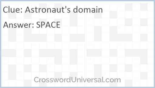 Astronaut's domain Answer