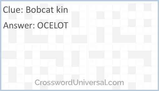 Bobcat kin Answer
