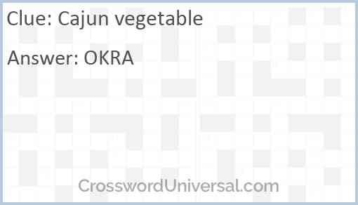 Cajun vegetable Answer