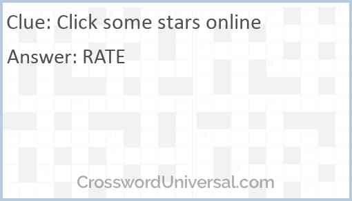 Click some stars online Answer