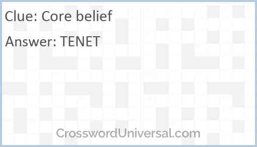 Core belief Answer