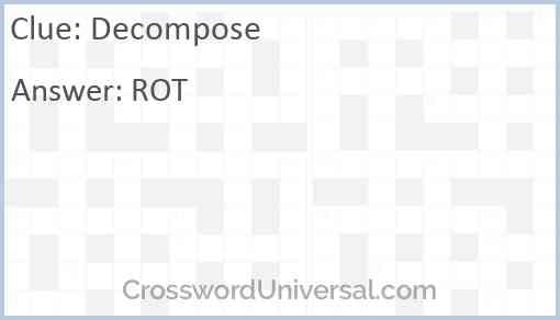Decompose Answer