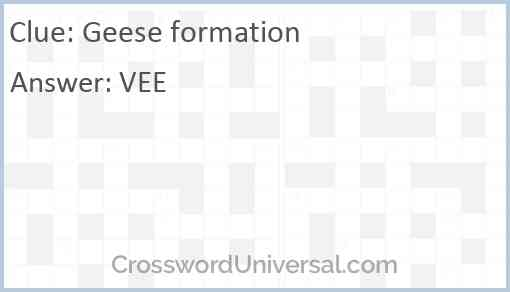 Geese formation Answer