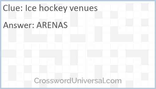 Ice hockey venues Answer