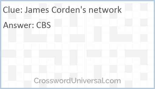 James Corden's network Answer