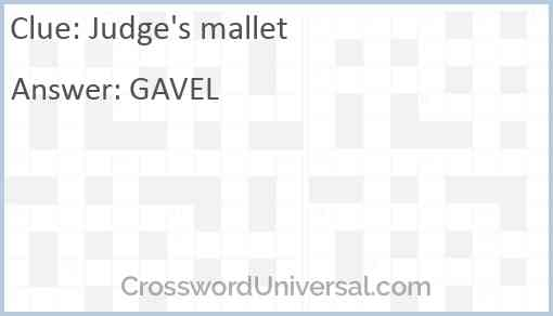 Judge's mallet Answer