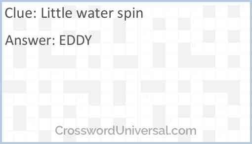 Little water spin Answer