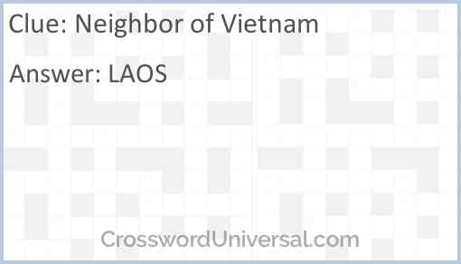 Neighbor of Vietnam Answer