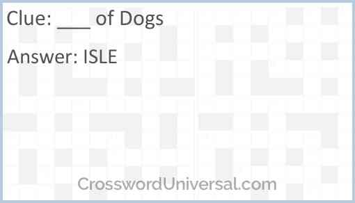 ___ of Dogs Answer