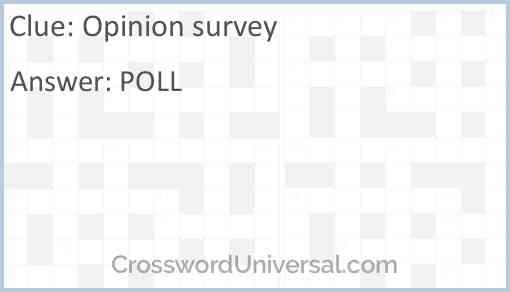 Opinion survey Answer
