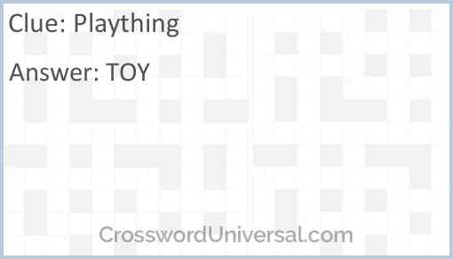 Plaything Answer