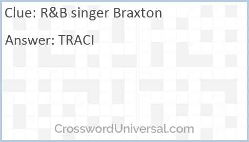 R&B singer Braxton Answer