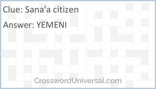 Sana'a citizen Answer