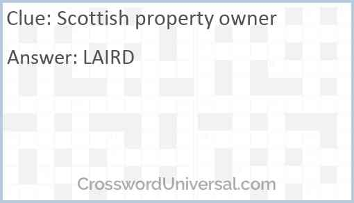 Scottish property owner Answer