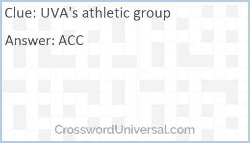 UVA's athletic group Answer