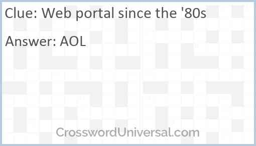 Web portal since the '80s Answer