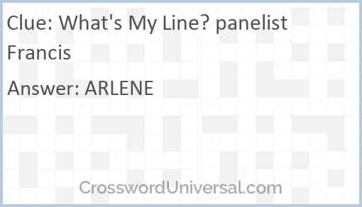 What's My Line? panelist Francis Answer