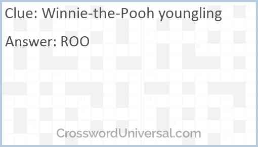 Winnie-the-Pooh youngling Answer