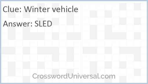 Winter vehicle Answer