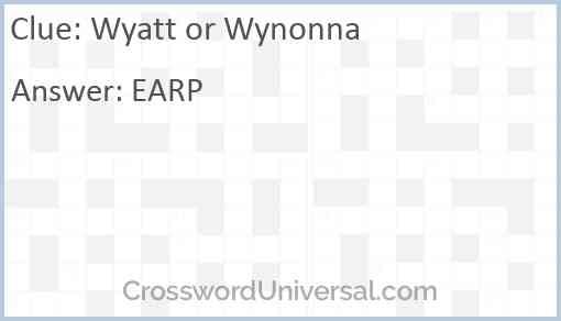 Wyatt or Wynonna Answer
